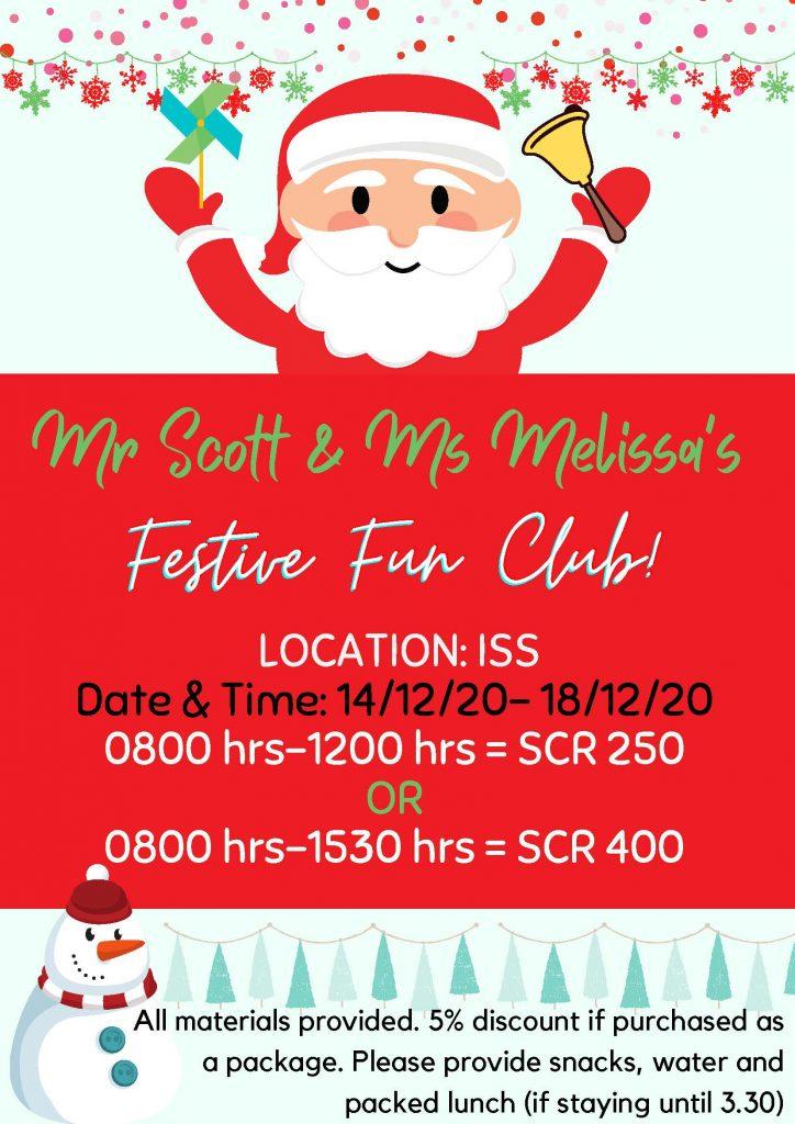 Holiday club Year 3-6